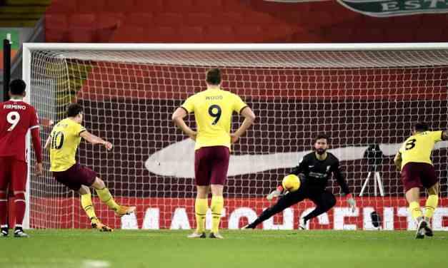 Liverpool 0 Burnley 1: The Reds' 68-game unbeaten run ends