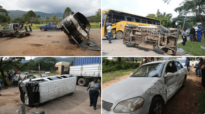 MUTARE: 17 people injured in police chase road accident
