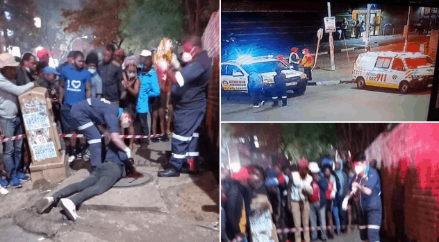 Zim armed robber shot dead in Hillbrow, Joburg while robbing SA taxi driver..PICTURES