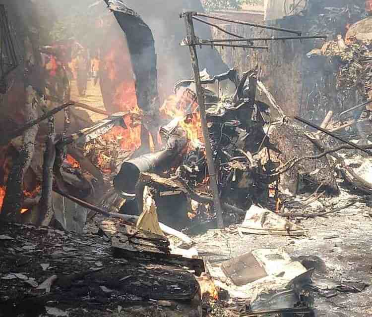 BREAKING: Airforce of Zimbabwe Helicopter Crashes  Into Arcturus  House, Catches Fire…PICTURES