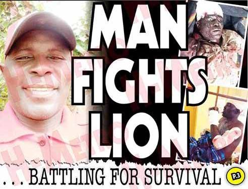 PICTURES…Zimbabwean man survives brutal lion attack: I forced my hand into its mouth