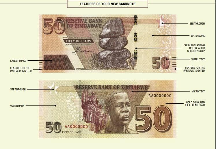 New Zimbabwe $50 bank note featuring Mbuya Nehanda enters circulation