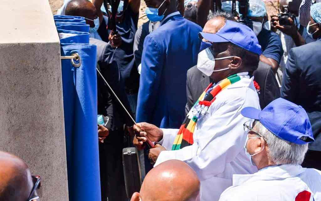 President Mnangagwa launches new production line at Varun Beverages