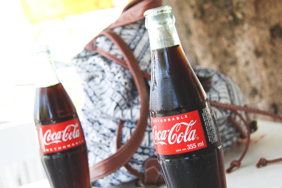 Coca Cola wszklanej butelce