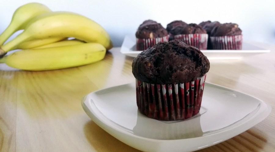 Muffiny z czekoladą i bananem
