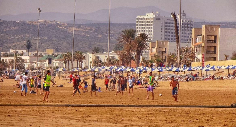 Boiska na plaży w Agadirze