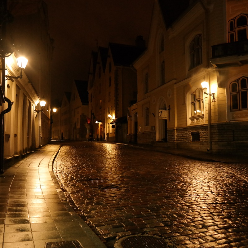 Tallin nocą