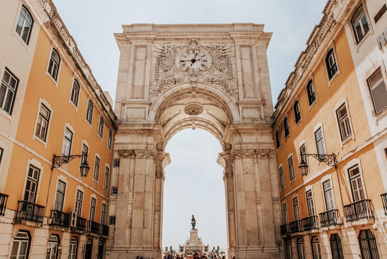 Rua Augusta Lizbona Lisboa łuk co zwiedzić i zobaczyc w lizbonie weekend blog