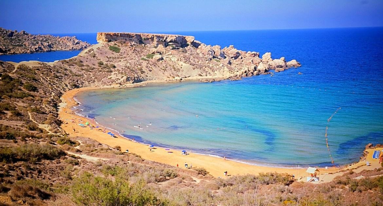 Panorama znad Tuffieha Bay, Malta