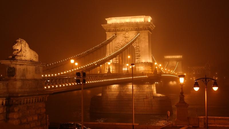 Most łańcuchowy Chain Bridge Budapeszt Budapest