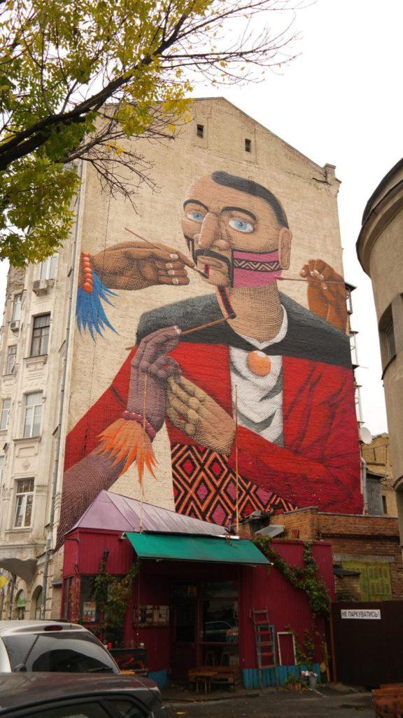 Mural przy Muzeum Czarnobylskim
