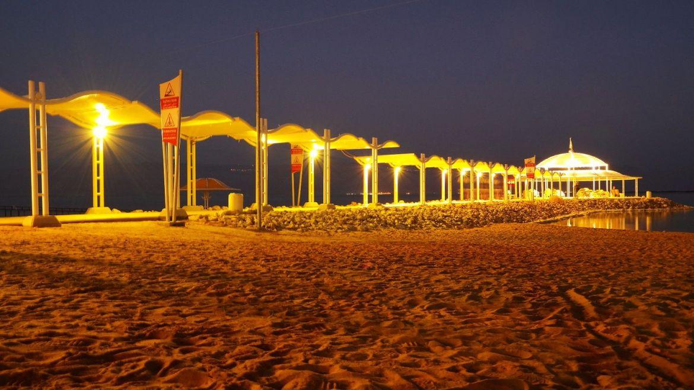 ein bokek nocą izrael morze martwe plaża