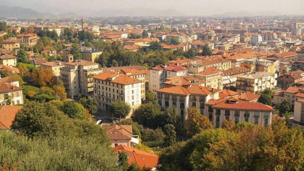 Panorama Bergamo z Allta Cita