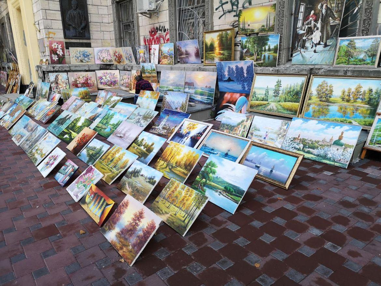 Ulica Volodymyrska Kijów ulica malarzy artystów