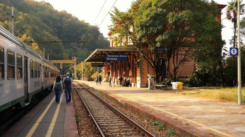 Verenna Esido Perledo Dworzec kolejowy Wlochy