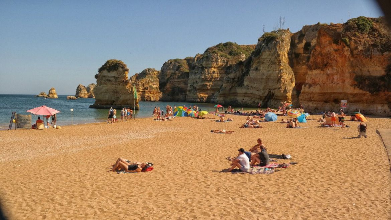 Plaża dona Ana Praia Dona Ana Lagos Algarve Zachodnie Portugalia