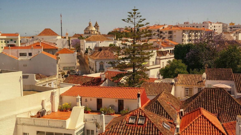 Tavira Algarve Portugalia panorama miasta