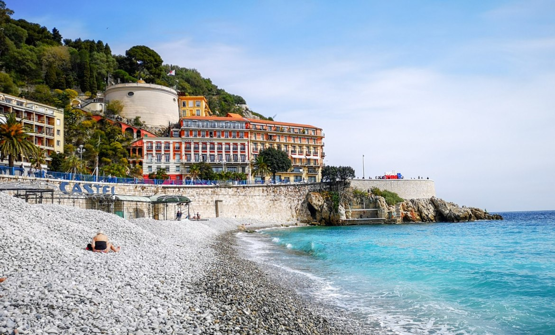 Nicea co zwiedzić i zobaczyć w nicei zwiedzanie Nicei wzgórze zamkowe aleja anglików promanada plaża weekend blog 1