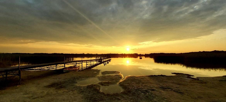 brabniak rotcze jezioro zachód słońca lubelskie