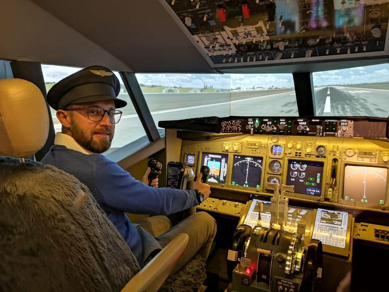 airwine symulator Boeing 737NG morawy południowe