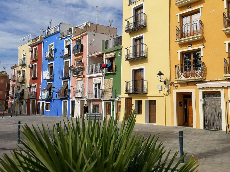 Villajoyosa costa blanca hiszpania deptak zwiedzanie