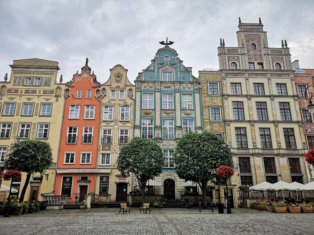 zwiedzanie gdańska długi targ kamienice