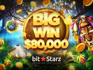 Another big win at BitStarz - Jungle Rumble lands player $80,000 prize!