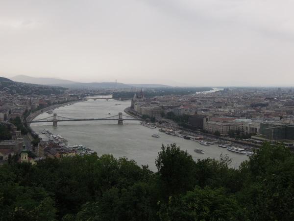 Budapeszt panorama ze wzgórza Gellerta