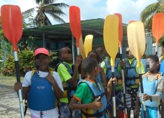 Préparation pour le kayak