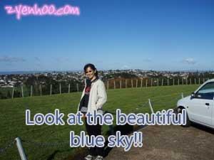 Look at the beautiful blue sky!