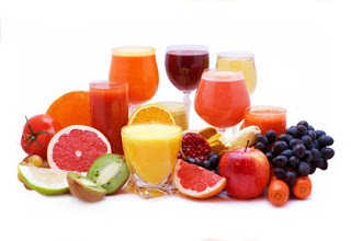 Choose to drink juices made from raw fruit and vegetables