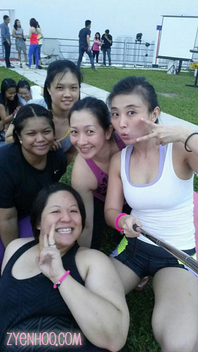 Group-fie with the other ladies from Surya Yoga!