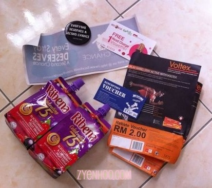 The contents of the goodie bag!