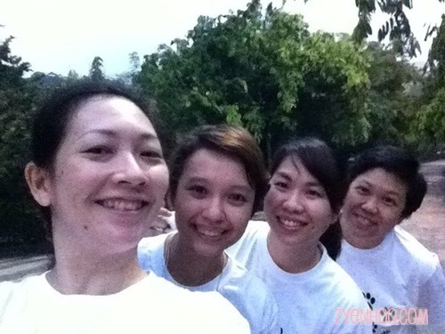 The compulsory we-fie in the morning before the run!