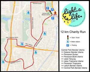 The 12km route