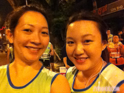 Me with new run buddy Audrey!