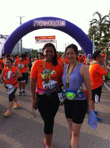 Farah and me after the run