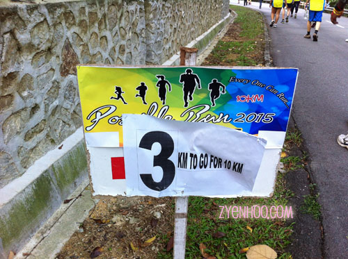 The organisers did put up distance markers, which was great for us runners