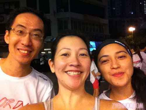 Andrew, Fitri and I at the start