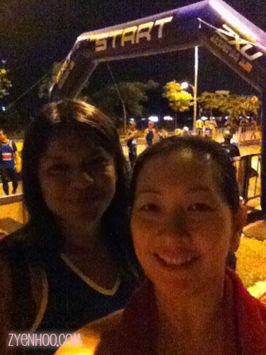 Farah and I at the Start