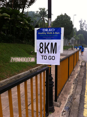 At least they put up distance signages!