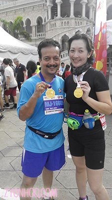 Me with another former colleague and also run enthusiast, Mr Raj