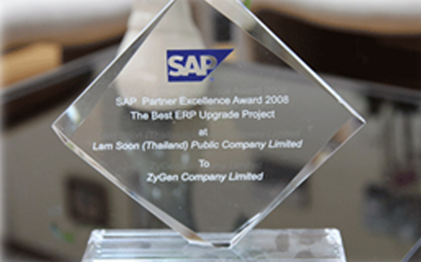 "SAP Summit 2008 participation and Award ""Best Upgrade"""