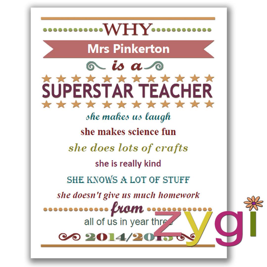 Teacher Appreciation Editable Certificate Funky Pink