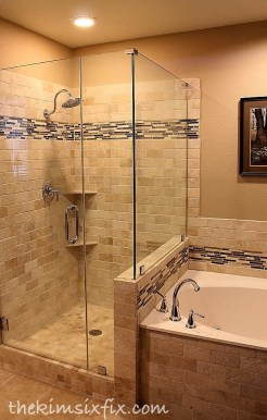 Adorable Master Bathroom Shower Remodel Ideas 07
