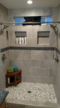 Adorable Master Bathroom Shower Remodel Ideas 34
