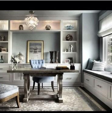 Cozy And Elegant Office Décor Ideas 16