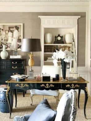Cozy And Elegant Office Décor Ideas 25
