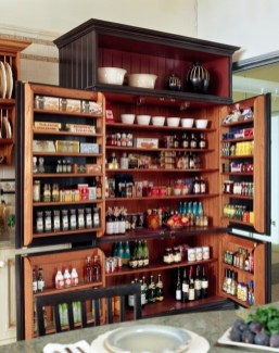 Cozy Kitchen Pantry Designs Ideas 24