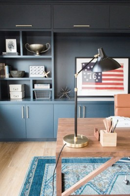 Elegant Blue Office Decor Ideas 22